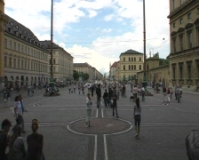 Odeon Square, Munich Stock Footage