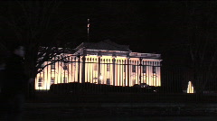 White House at Night Stock Footage