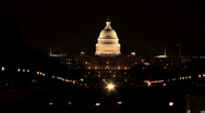 Stock Video Footage of Capitol Building Washington DC at Night