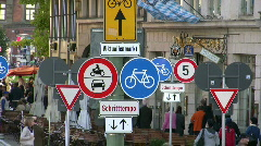 Germany Munich environmental friendly bike-lane Stock Footage