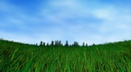 Stock Video Footage of 3d grass field (Loop footage)