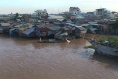 CAMBODIA-fishing boat 2 Stock Footage