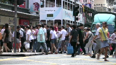 Traffic scene at Wan Chai Hong Kong China Stock Footage