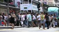 Traffic scene at Wan Chai Hong Kong China Stock Footage