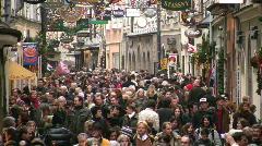 Tourist Getreidegasse Salzburg Austria mozart Stock Footage