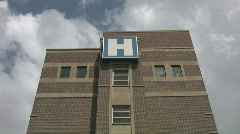 'H' is for Hospital. Timelapse clouds. Stock Footage