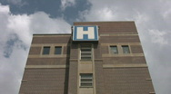 Stock Video Footage of 'H' is for Hospital. Timelapse clouds.