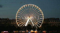 Ferris Wheel Spinning at Carnival Stock Footage