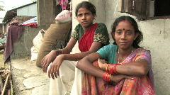 India/Nepal: Flood victims Stock Footage