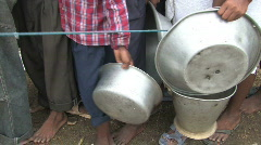 India/Nepal: Flood response Stock Footage