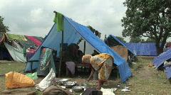 India/Nepal: Flood victoms Stock Footage