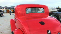 Old Red Car Stock Footage