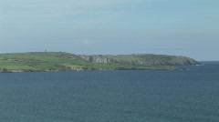 A View of the Irish Coast Stock Footage