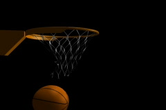 Basketball Swoosh Alpha Stock Footage
