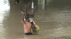 India/Nepal: Flood shots Stock Footage