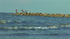 Fishing jetty Stock Footage