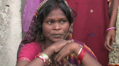 India/Nepal: 2008 Flood victoms Stock Footage