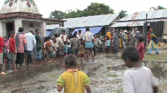 India/Nepal: Flood response Stock Footage