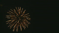 Elegant fireworks 3 na Stock Footage