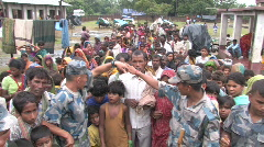 Stock Video Footage of India/Nepal: 2008 Flood response