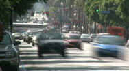Stock Video Footage of Hollywood Blvd Traffic Time-lapse