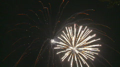 Firework going with the wind na Stock Footage