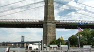 Stock Video Footage of Brooklyn Bridge 2 pan