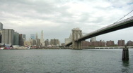 Stock Video Footage of brooklyn bridge tour boat6