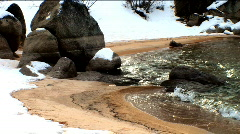 Winter scenes of Lake Tahoe Stock Footage