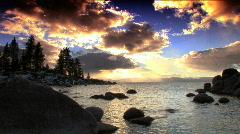 Winter scenes of Lake Tahoe Stock Footage