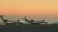 Corporate Jets Stock Footage