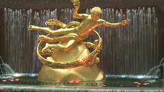 Prometheus Rockefeller Center - stock footage
