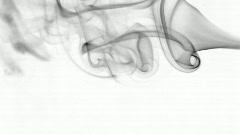 Dancing smoke part II bw Stock Footage