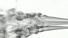 Curly smoke bw Stock Footage