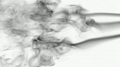 Fume from side bw Stock Footage