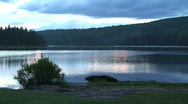 Lake at Sunset in Park Stock Footage
