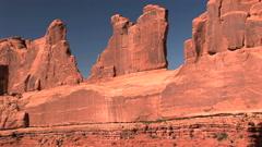 Park Avenue Rock Formation Stock Footage