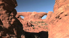 North and South Window arches Stock Footage