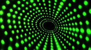 Tunnel Of Green Dots Stock Footage
