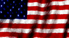 American Flag new color Stock Footage