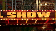 Show lights Stock Footage