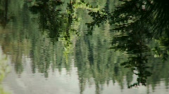 Reflection in Alpine Lake Stock Footage