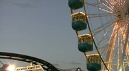 Ferris wheel and train Stock Footage
