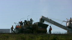Road Crew Re Paving A Highway Road  Stock Footage