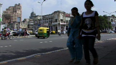 New Delhi city centre - Connaught Place Stock Footage
