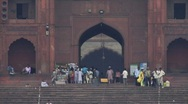Stock Video Footage of Steps to Mosque, Delhi