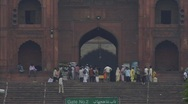 Stock Video Footage of Jama Masjid Mosque, Old Delhi Zoom out