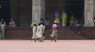 Stock Video Footage of Muslim boys inside Mosque, Delhi
