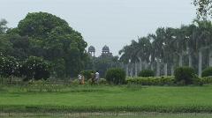 Delhi India ancient building Purana Qila Stock Footage