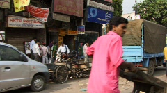 Drive down Chandni Chowk, Old Delhi Stock Footage